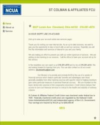 St. Colman & Affiliates Federal Credit Union
